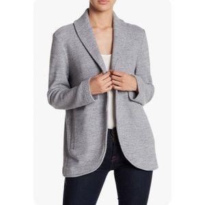 BB Dakota Grey Open Front Sweater Blazer Pockets